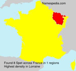 Surname Spet in France
