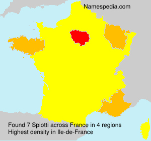 Surname Spiotti in France