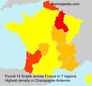 Familiennamen Srajek - France