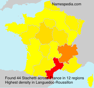 Surname Stachetti in France