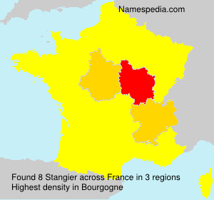 Surname Stangier in France