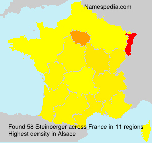Surname Steinberger in France
