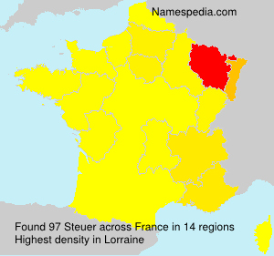 Surname Steuer in France