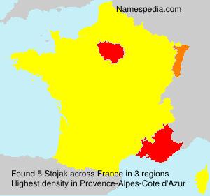 Familiennamen Stojak - France