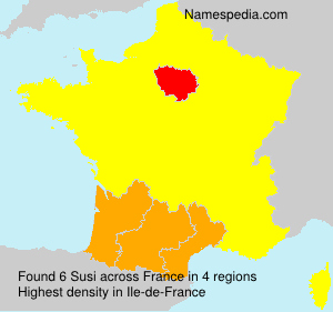 Surname Susi in France
