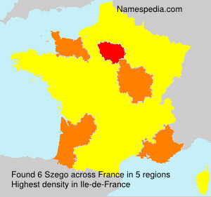 Surname Szego in France