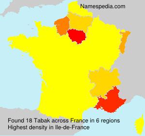 Surname Tabak in France