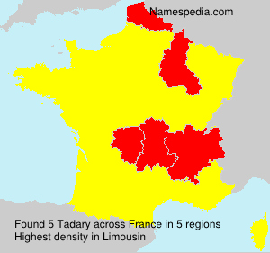 Surname Tadary in France