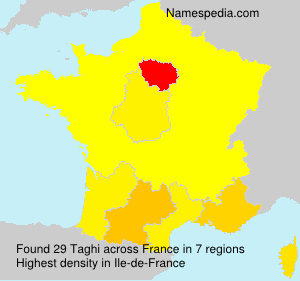 Surname Taghi in France