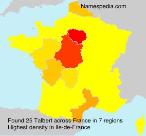 Surname Talbert in France