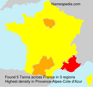 Surname Tanna in France