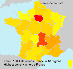 Surname Tate in France