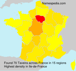Surname Taveira in France
