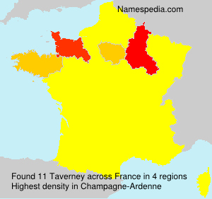 Surname Taverney in France