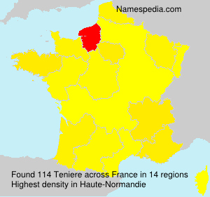 Surname Teniere in France