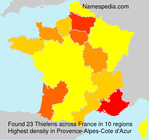 Surname Thielens in France