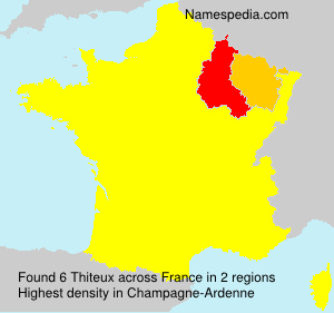 Surname Thiteux in France