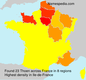 Surname Thoen in France