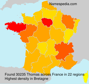 Surname Thomas in France