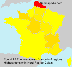 Surname Thurlure in France