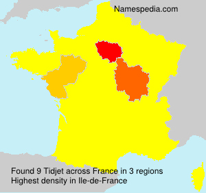 Surname Tidjet in France