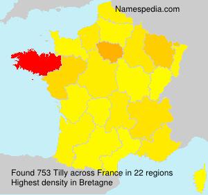 Surname Tilly in France