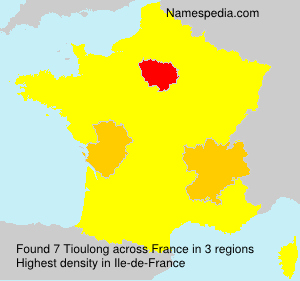 Surname Tioulong in France