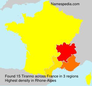 Surname Tiranno in France