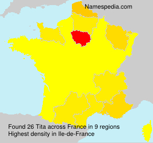 Surname Tita in France