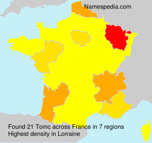 Surname Tomc in France