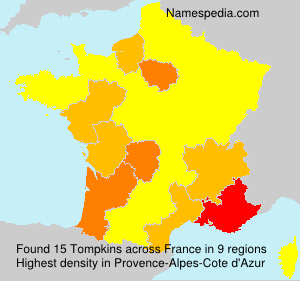 Surname Tompkins in France
