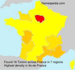 Familiennamen Tonino - France
