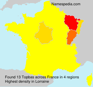 Surname Topbas in France