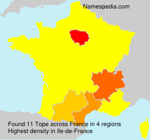 Surname Tope in France