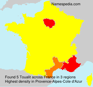 Surname Toualit in France