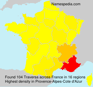 Surname Traversa in France