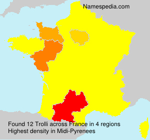 Surname Trolli in France