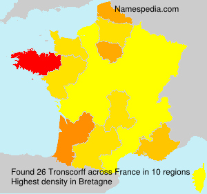 Surname Tronscorff in France