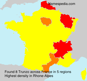 Surname Trunzo in France