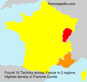 Surname Tschirky in France
