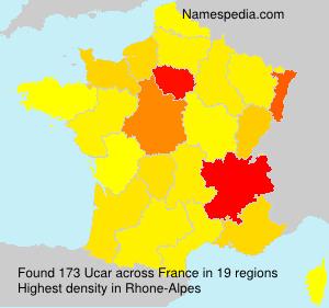 Surname Ucar in France
