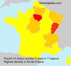 Surname Uckun in France
