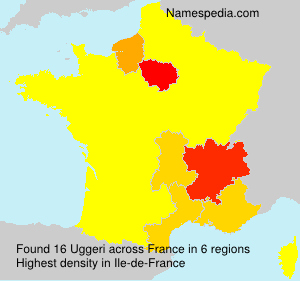 Surname Uggeri in France