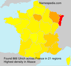 Surname Ulrich in France
