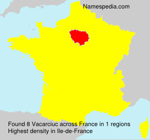 Surname Vacarciuc in France