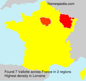Surname Vallotte in France