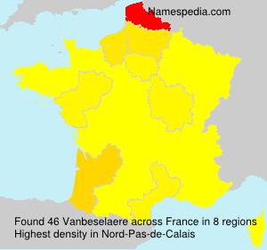 Surname Vanbeselaere in France