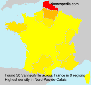 Surname Vanneufville in France