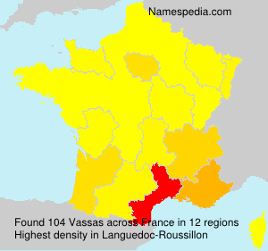 Surname Vassas in France