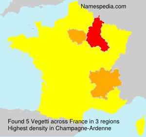 Familiennamen Vegetti - France